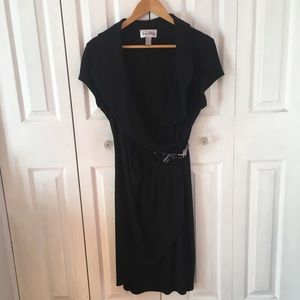 {JOSEPH RIBKOFF} Black Buckle Dress 14